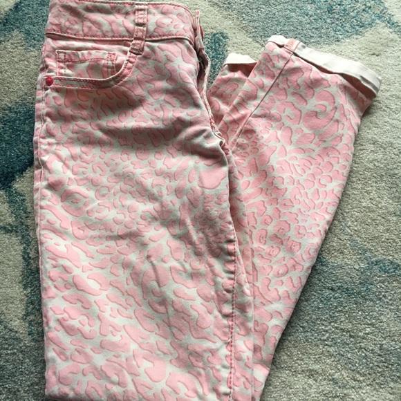 lei Denim - Capris, Leopard Pink